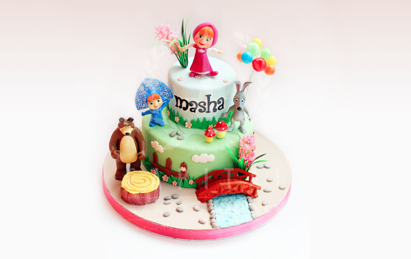 Masha & The Bear 2-Kids Cakes