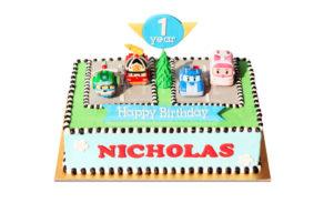 Robocar- Kids Cake