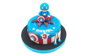 Captain America-Custom Cake